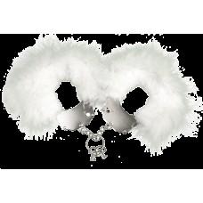 Наручники Металеві З Білої Обробкою Adrien Lastic Handcuffs White