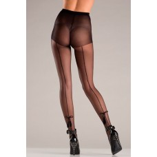 Back Seam Pantyhose With Tassel Bow