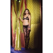Crotchless Bodystocking Floral Design