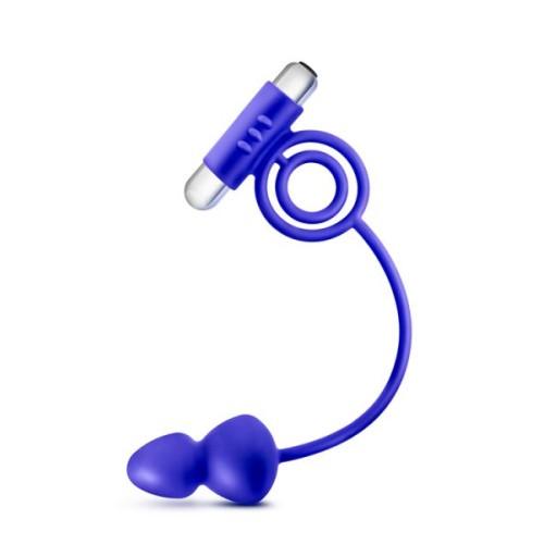 Эрекционное кольцо и анальный плаг PERFORMANCE ANAL PLUG AND VIBRATING RING