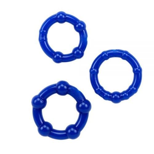 Набор колец Beaded Cock Rings-Blue
