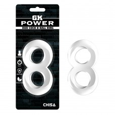 Эрекционное кольцо-GK Power Duo Cock 8 Ball Ring Clear