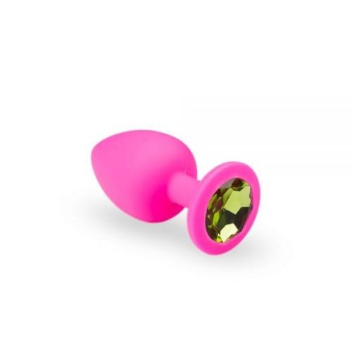 Анальная пробка, Pink Silicone Chrysolite, M