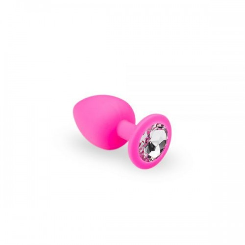 Анальная пробка, Pink Silicone Diamond, S