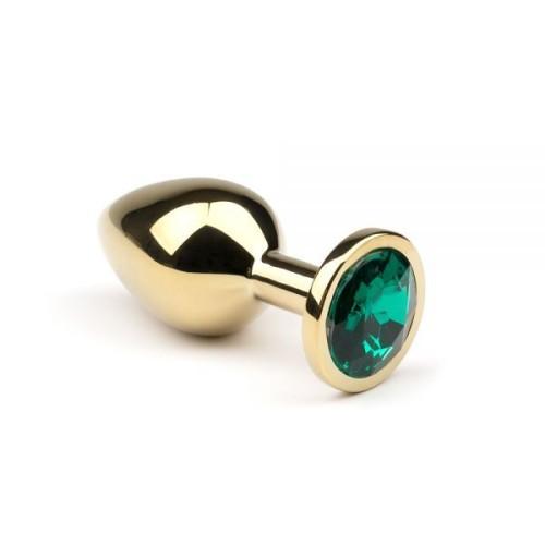 Анальная пробка,Gold Emerald,L