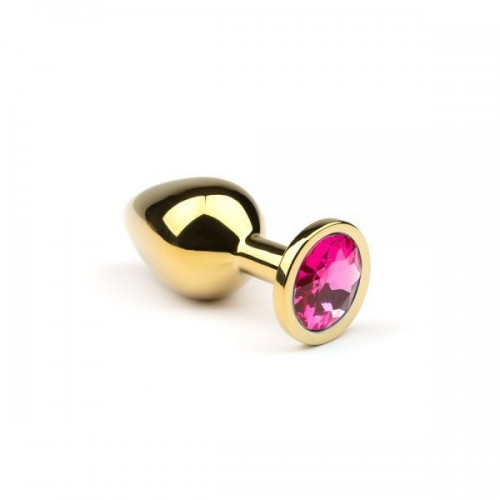 Анальная пробка,Gold Pink-Rhodolite,M