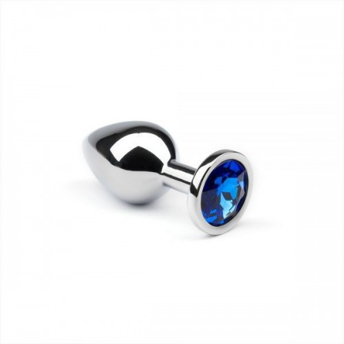 Анальная пробка утяжеленная, Silver Sapphire, M