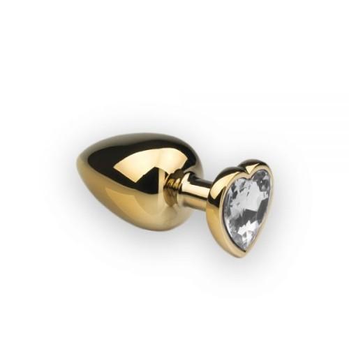 Анальная пробка,Gold Heart Diamond, L