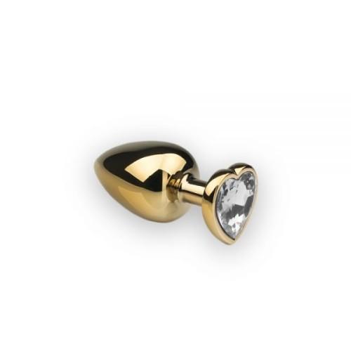 Анальная пробка,Gold Heart Diamond, M