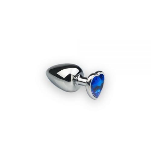 Анальная пробка, Silver Heart Sapphire, S