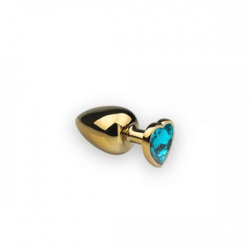 Анальная пробка,Gold Heart Topaz, S