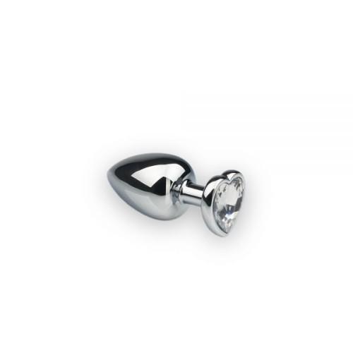 Анальная пробка, Silver Heart Diamond, S