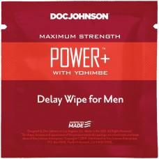 Пролонгирующая Серветка Doc Johnson Power+ Delay Wipe For Men З Екстрактом Yohimbe