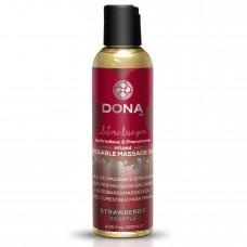 Масажне Масло Kissable Massage Oil Strawberry Souffle
