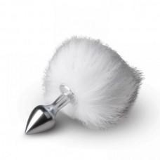 Металева Анальна Пробка З Помпоном Bunny Tail Plug, S