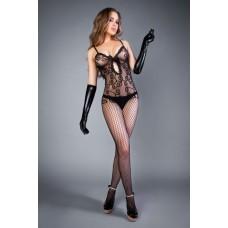 Сетка Net look and tendril bodystocking black, S-L (40-46)