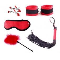 Набор для БДСМ игр Delight Mini Set, Black&Red