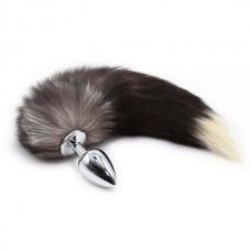Анальная пробка с хвостом Енот, Raccoon Tail M