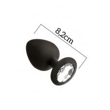 Анальна Пробка З Кристалом Mai Attraction Toys №48 Black, Довжина Вісім, Діаметр Три,.