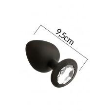 Анальна Пробка З Кристалом Mai Attraction Toys №49 Black, Довжина 11См, Діаметр Чотири,.