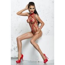 Боді З Стрічок Червоний S/m Anita Body Me-Seduce