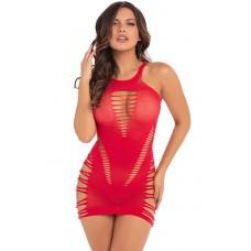 Back 2 Basixxx Hi Neck Dress Red, Os