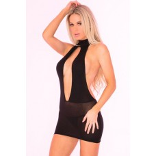 Bare With Me Open Back Dress Black