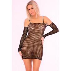 Bad Intentions Fishnet Dress Black