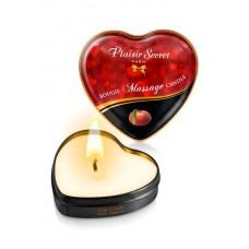 Массажная свеча сердечко Peach