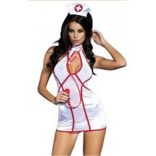 Костюм Ігровий Медсестра Sunspice White & Red, One Size