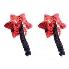 Пестис Red Star Shape Sequin Pasties 8Cm