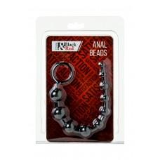 Анальная цепочка Black & Red By Toyfa, водонепроницаемая, ПВХ, черная, 31 см, ø 2,3 см